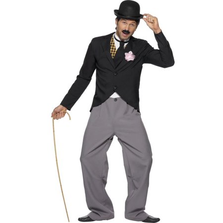 1920's Star Charlie Chaplin Costume Adult - Mens Hairstyles Of The 1920s
