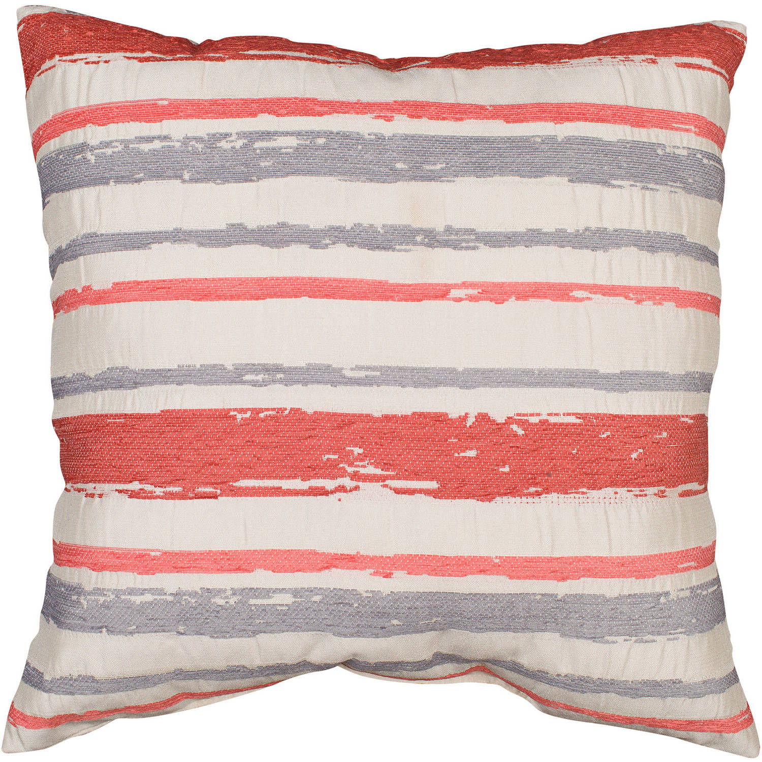better homes and gardens decorative pillow coral grey stripe