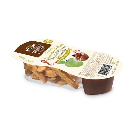 Nosh Mates, Crispy Green Apple Chips & Caramel Chocolate Dip, 1.4 Oz, 12 Ct