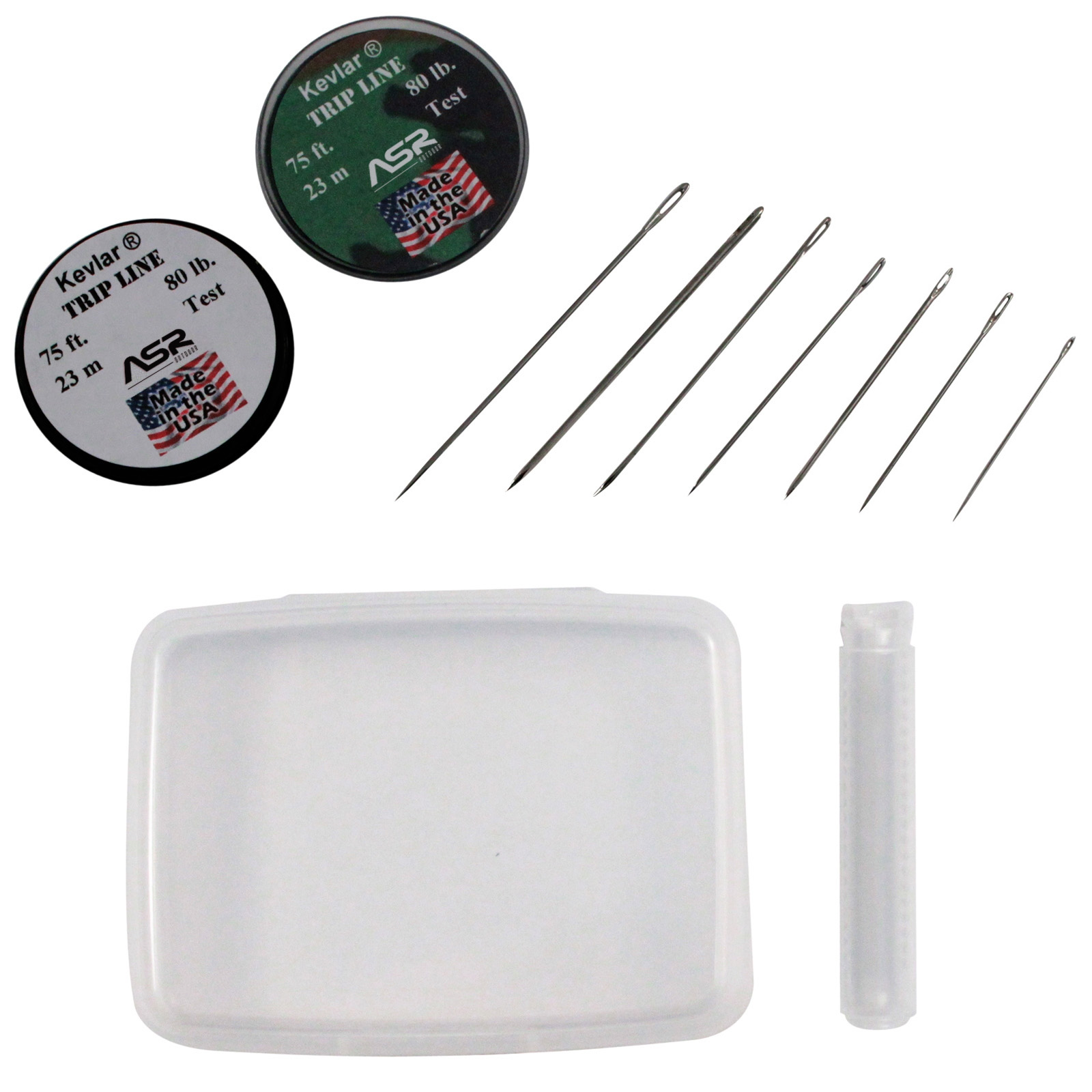10pc ASR Outdoor Tactical Survival Sewing Kit Stainless Steel Needles