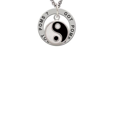 Enamel Yin and Yang Got Poms? Affirmation Ring Necklace