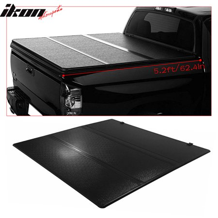 Fits 15-18 Chevy Colorado 5.2ft/62.4in Bed Black Tri-Fold Hard Tonneau