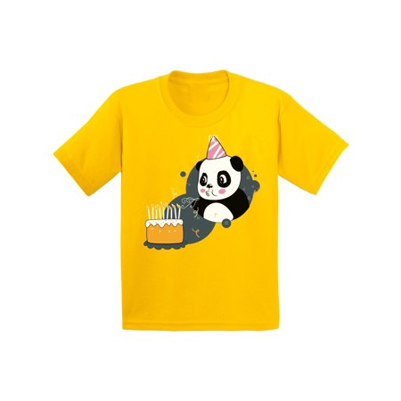Awkward Styles Panda Birthday Youth Shirt Kids Themed Party Birthday Gifts for Kids Cute Panda with a Birthday Cake Tshirt Funny Birthday Shirts for Boys Funny Birthday Shirts for Girls](Kids Birthday Themes)