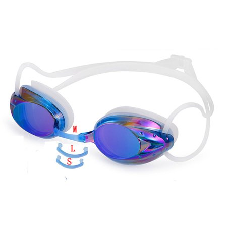 Waterproof and Anti-fog Colorful Plating Swimming Goggles Transparent silver plating - image 2 of 5