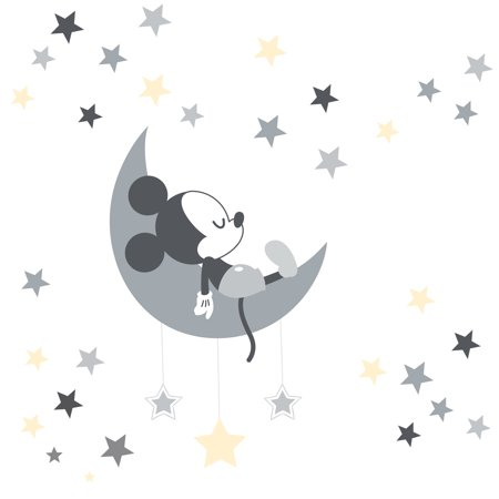 Disney Baby Mickey Mouse Gray/Yellow Celestial Wall Decals by Lambs & Ivy (Baby Mickey Wall Decals)