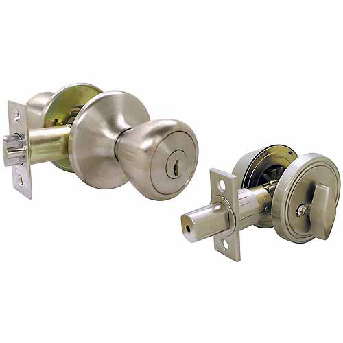 Ultra 43971 SS Single Cylinder Deadbolt and Entry Combo Lockset
