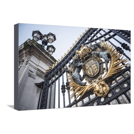 Royal Coat of Arms on the Gates at Buckingham Palace, London, England, United Kingdom, Europe Stretched Canvas Print Wall Art By Matthew (Royal Coat Of Arms Of The United Kingdom)
