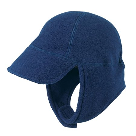 Cozy Cub Baby and Toddler Winter Hat - Fleece Hat with Visor and Gaiter - Navy Blue