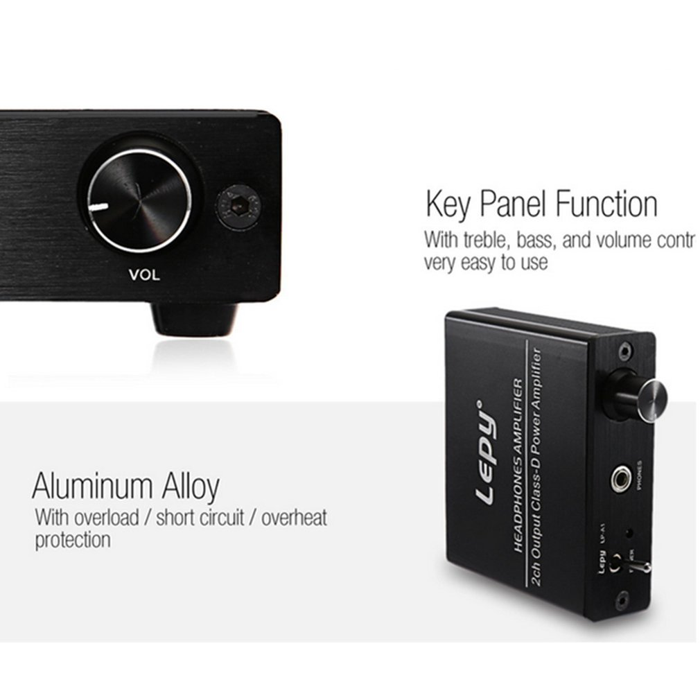 Small Size Aluminum Alloy Hi-Fi Stereo Audio Headphone Amplifier Natural Vocals 2 Channels... by OUTAD