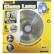 Prime Reflector Clamp Lamp With 6-Feet 18/2 SPT-2 Cord