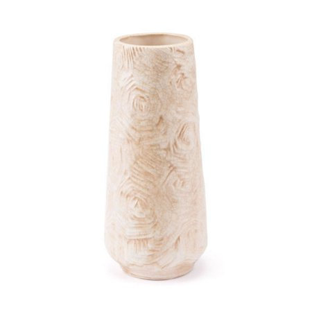 Small Decorative Vase Dining Table Centerpiece Vases  - Beige Ceramic Decoration