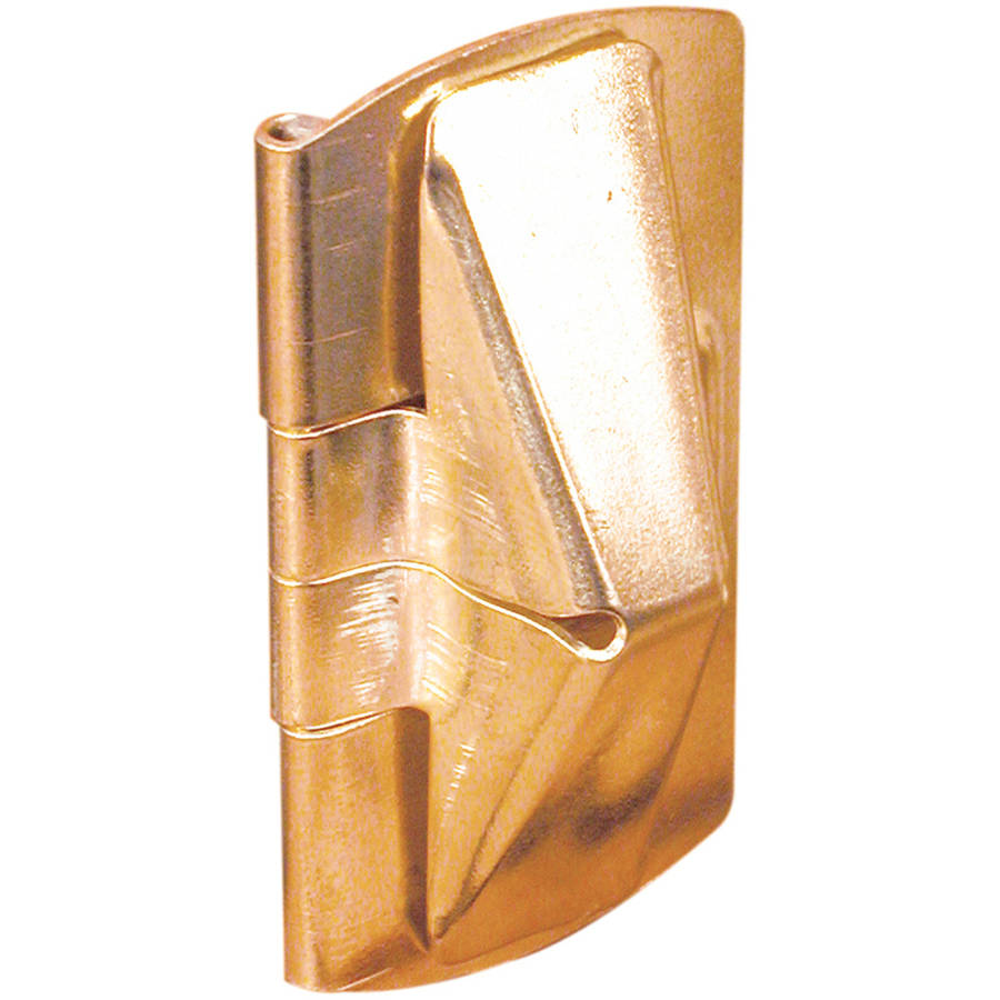 "Prime Line U9938 1"" x 2"" Brass Wood Window Flip Lock, 2 Count"