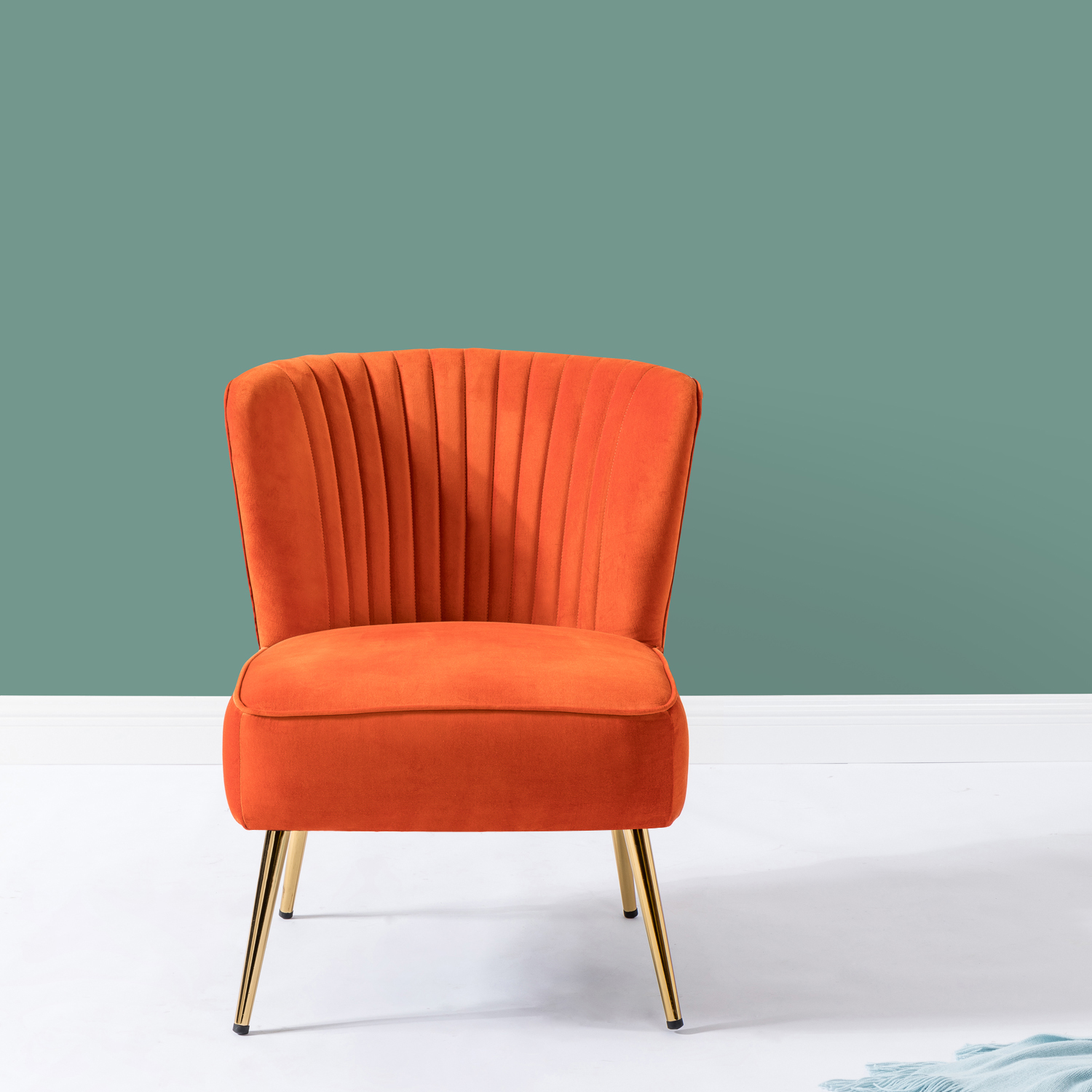 Picture of: Monica Side Traditional Style Velvet Accent Chair In Orange Walmart Com Walmart Com