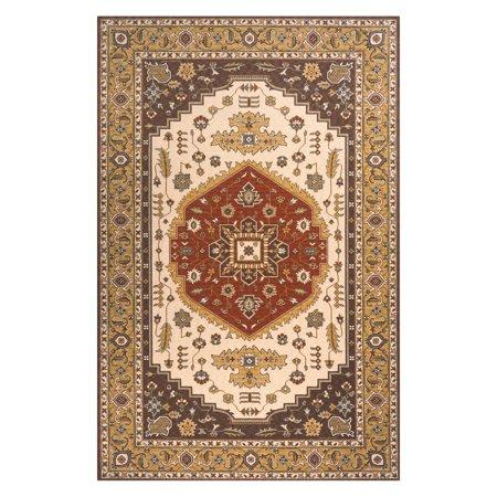 Momeni Persian Garden Medallion PG-03 Oriental Rug - Cocoa