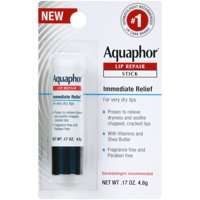 Aquaphor Lip Repair Stick - Soothes Dry Chapped Lips - .17 oz. Stick