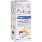 Bellybar Prenatal Chewable Vitamins with Iron Calcium and Folic Acid, 60 count