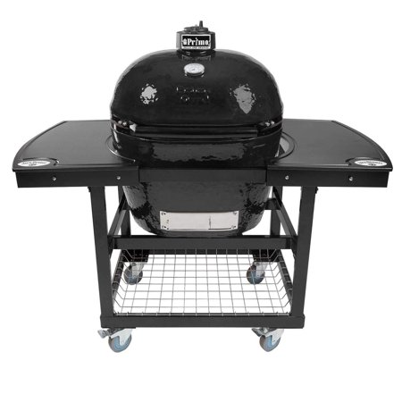 Primo Oval XL 400 Ceramic Smoker Grill On Cart with 1-Piece Jack Daniel