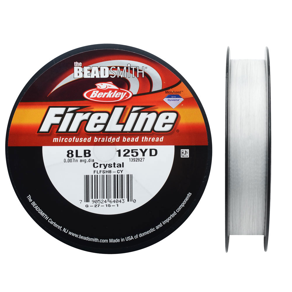 FireLine Braided Beading Thread, 8lb Test and 0.007 Thick, 125 Yards, Crystal Clear