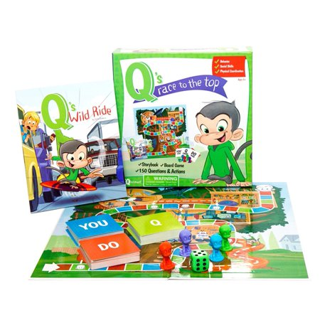 Q's Race To The Top Board Game with Free Book ()
