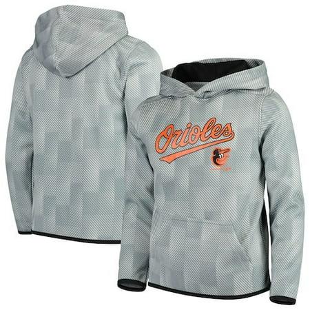 Baltimore Orioles Youth Polyester Fleece Sweatshirt - Gray Baltimore Orioles Mens Hooded Sweatshirt