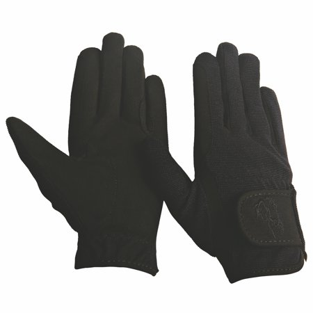 TuffRider Children's Performance Gloves (Black, L)