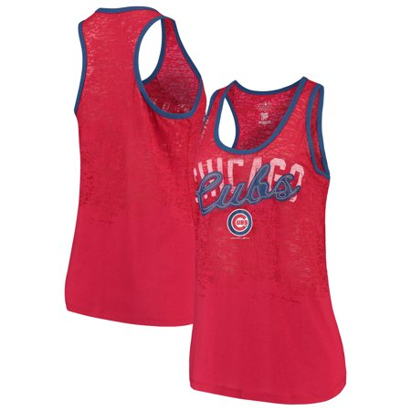 Chicago Cubs 5th & Ocean by New Era Women's Burnout Racerback Tank Top - Red