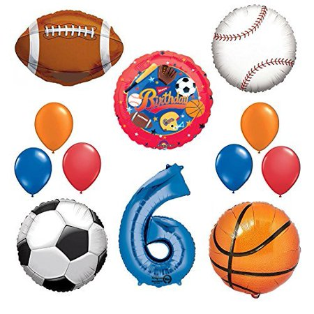 The Ultimate Sports Theme 6th Birthday Party Supplies and Balloon Decorating Kit](The Ultimate Party Store)
