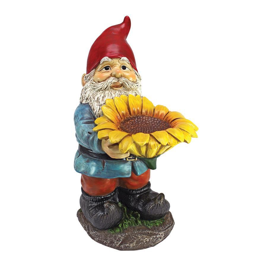 Design Toscano Sunflower Sammy Garden Gnome Statue