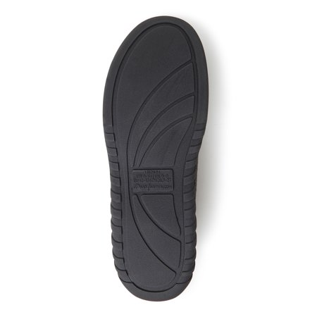 DF by Dearfoams Ribbed Moccasin Slippers with Memory Foam (Men's) (Wide Width Available)