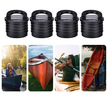 WALFRONT Boat Drain Hole, Boat Stopper, 4 Pcs Boat Canoe Kayak Boat Scupper Stopper Bungs, Kayak Stoppers Rubber Drain Holes Plugs Accessories for Kayak Canoe Marine Boat