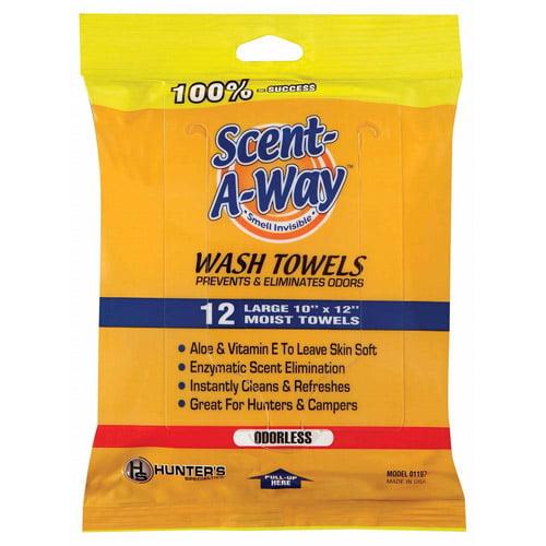 Scent-A-Way 12pk Wash Towels