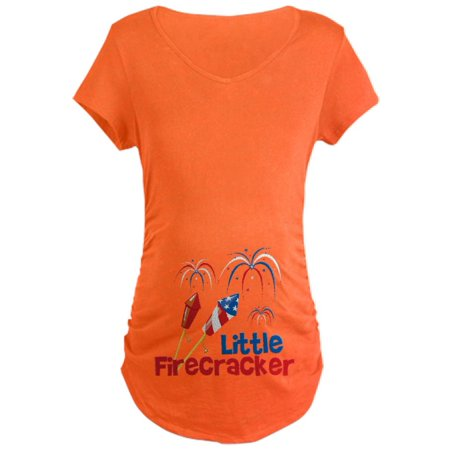 7058112d92742 CafePress - CafePress - 4Th Of July Little Firecracker Maternity Dark T Sh  - Maternity Dark T-Shirt - Walmart.com