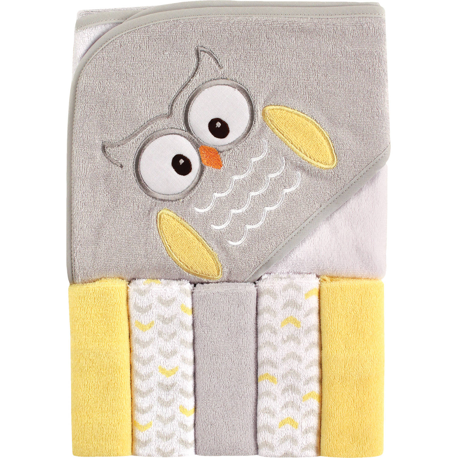 Luvable Friends Newborn Baby Unisex Hooded Towel & 5 Washcloths by Luvable Friends