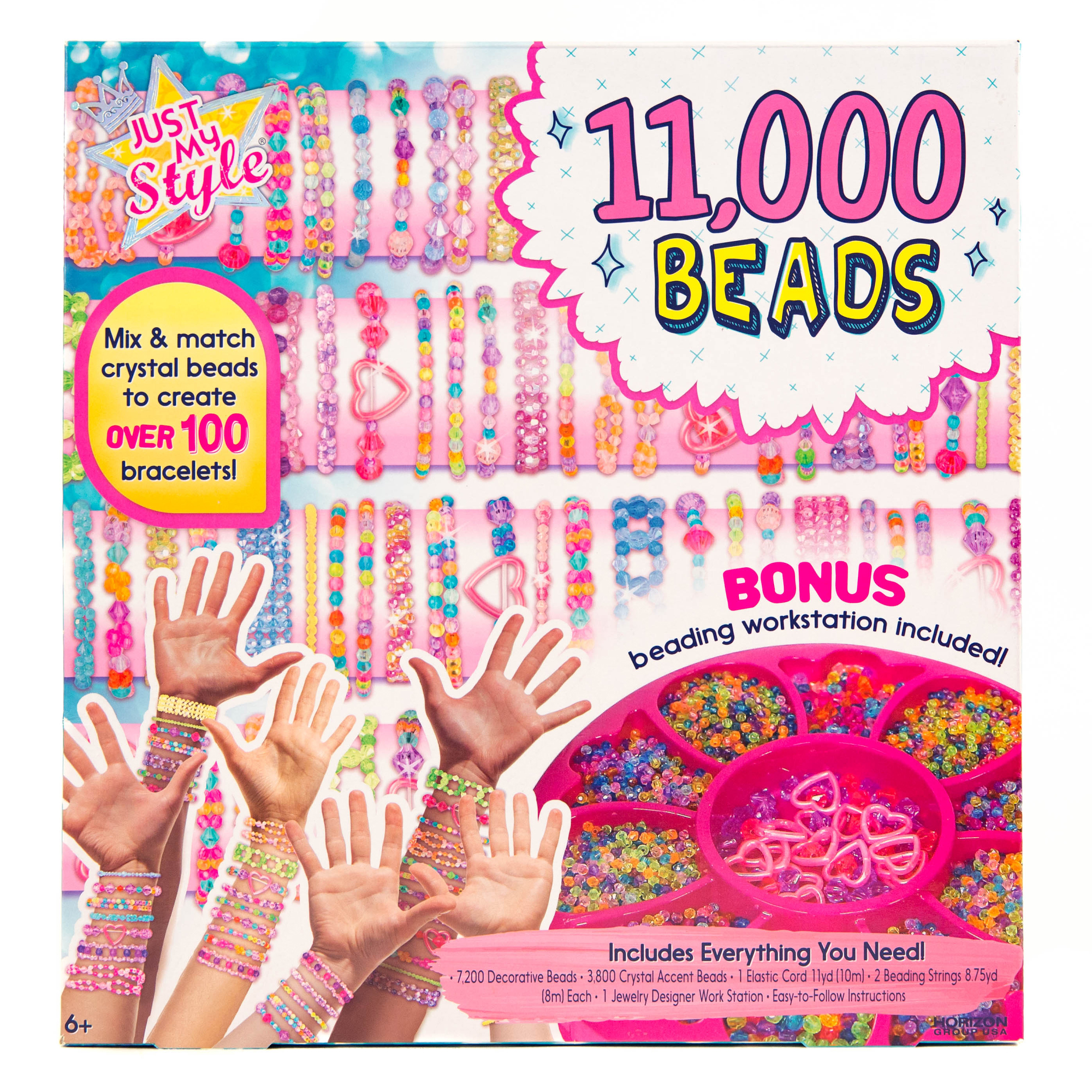 Just My Style 11,000 Beads Bracelet Kit by Horizon Group USA