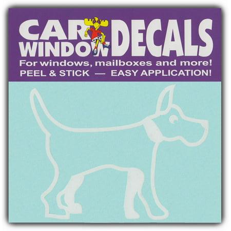 Car Window Decals: Medium Size Dog Breed   Family Stick Figures   Stickers (Dog Breed Window Decals)