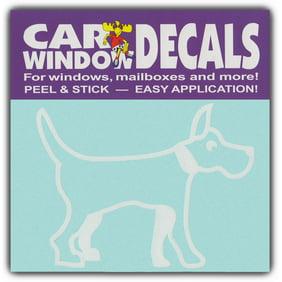 Car Window Decals: Medium Size Dog Breed   Family Stic…