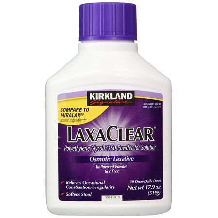 Kirkland   90 Daily Doses  Polyethylene Glycol 3350  3 Pack   Compare To Miralax Active Ingredient  Ship From America