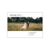 Personalized Wedding Thank You - Modern Simplicity - 5 x 7 Flat