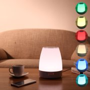 Wake-Up Light Bedside Lamp Alarm Clock with 8 Natural Sounds, Touch Sensor, Built-in h Player, Multicolor Dimmable Night Light Simple Design and Healthy Life Style
