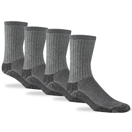 "Realtree Sock - ""No Fly Zone"" Cotton Crew - 4-pack, Charcoal, Large"
