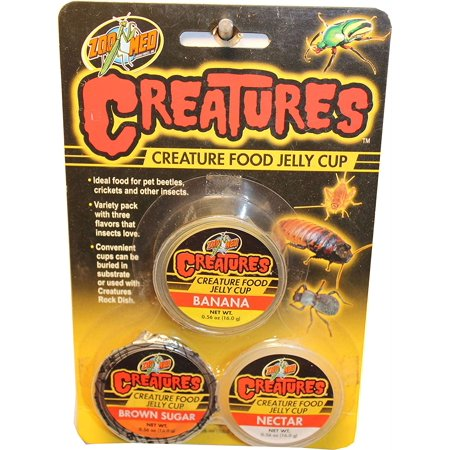 ZOOMED CREATURE FOOD JELLY CUP, Ideal food for pet beetles, crickets, and other insects By Zoo -
