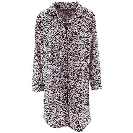 Love Lounge Wear Women's Valentine's Day Pink Leopard Nightshirt ()