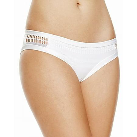 Becca Womens Swimsuit - Becca By Rebecca Virtue NEW White Women Large L Bikini Bottom Swimwear