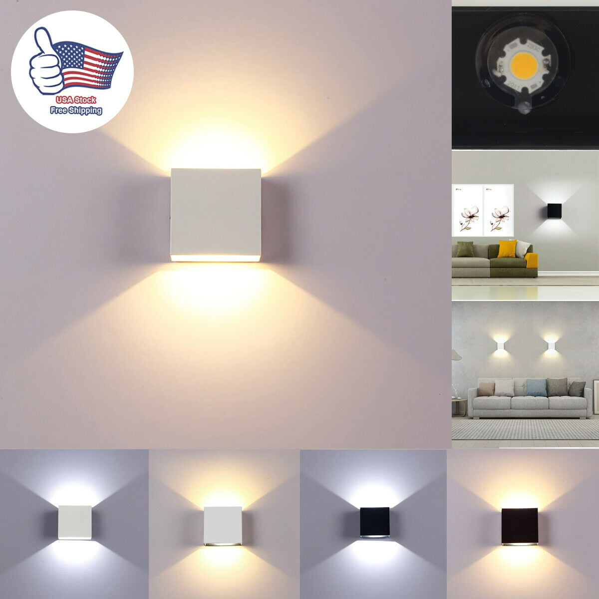 Eimeli Dimmable Wall Sconces Modern Led Wall Lamp 12w Indoor Wall Sconce Up Down Hallway Wall Mounted Light Fixtures For Bedroom Living Room Warm Light Walmart Com Walmart Com