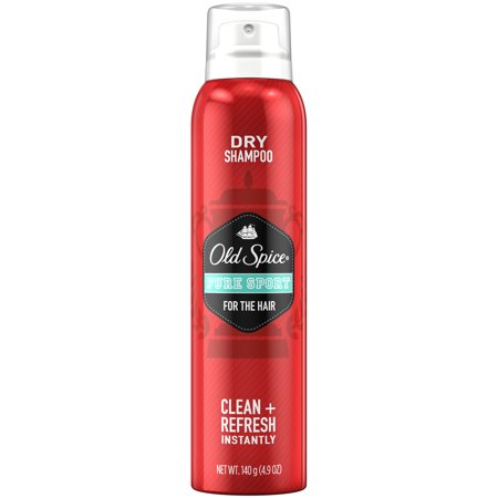 Sport Everyday Shampoo (Old Spice Pure Sport Men's Dry Shampoo for the Hair, 4.9 oz )