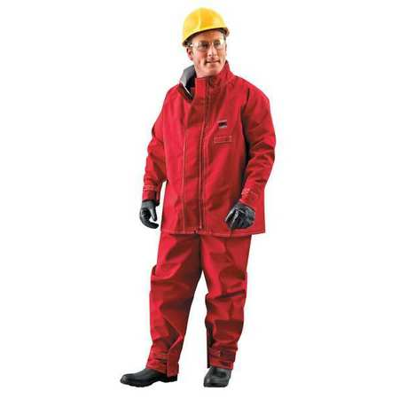 ANSELL 66-660 Chemical Resistant Jacket,Red,XL