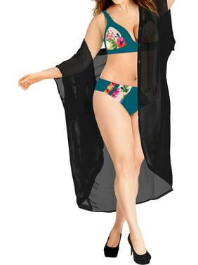 HAPPY BAY Women's Blouse Loose Drape Kimono Beach Cardigan Chiffon Solid