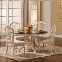 Hillsdale Furniture Pine Island 5-Piece Round Dining Set with Wheat Back Chairs