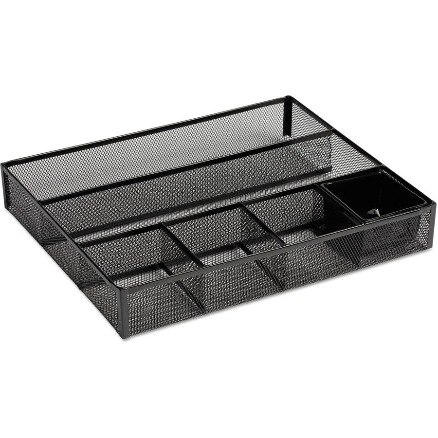 Rolodex Deep Desk Drawer Organizer, 15-1/4 x 11-7/8 x 2-1/2, Black