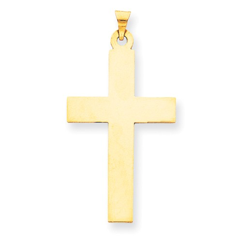 14k Yellow Gold Engravable Latin Cross Pendant